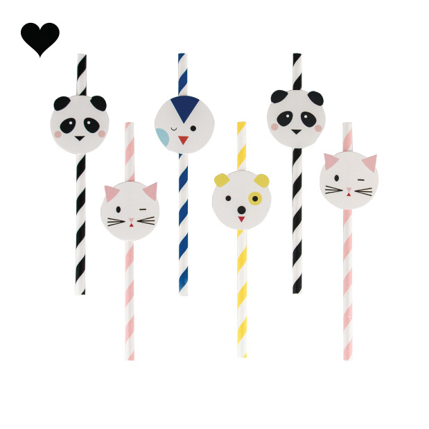 Papieren kawaii rietjes (12 st) My Little Day-1