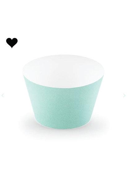 Cupcake wikkels mint(6 st)