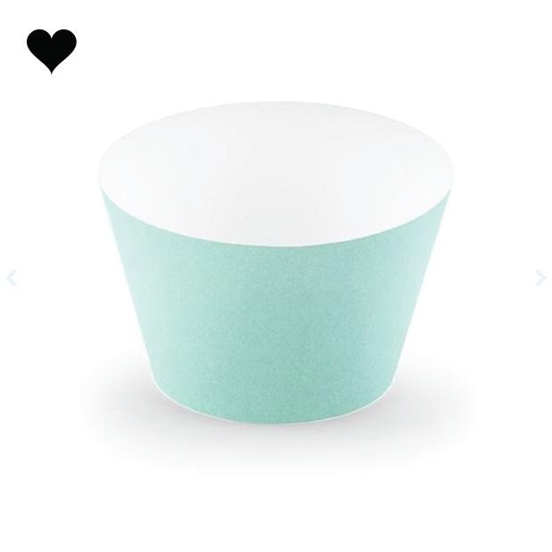 Cupcake wikkels mint(6 st)-1