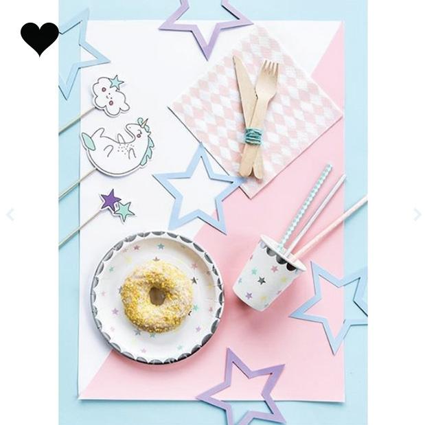 bordjes sterren (6 st)-  Make a Wish-2