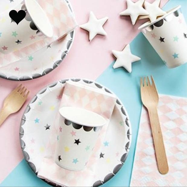 bordjes sterren (6 st)-  Make a Wish-3