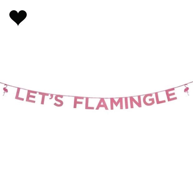 Let's Flamingle roze glitter slinger (3 m)- Talking Tables-1