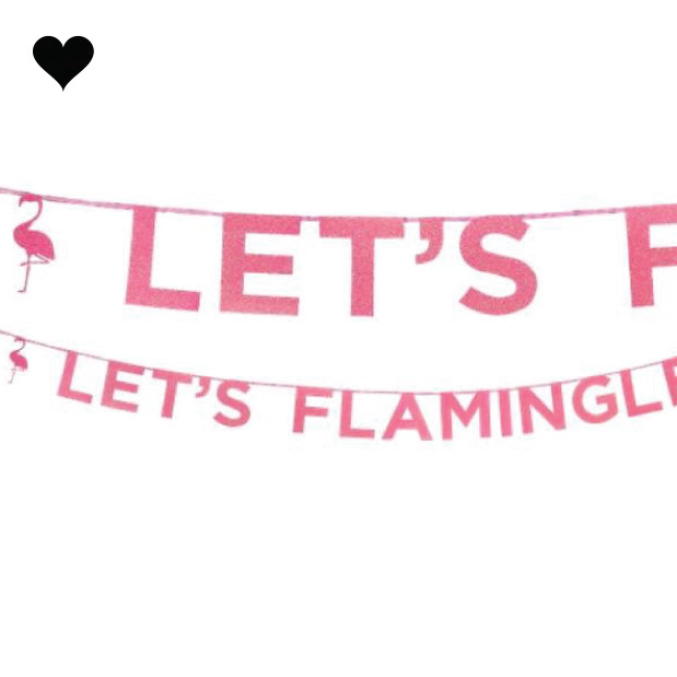 Let's Flamingle roze glitter slinger (3 m)- Talking Tables-2