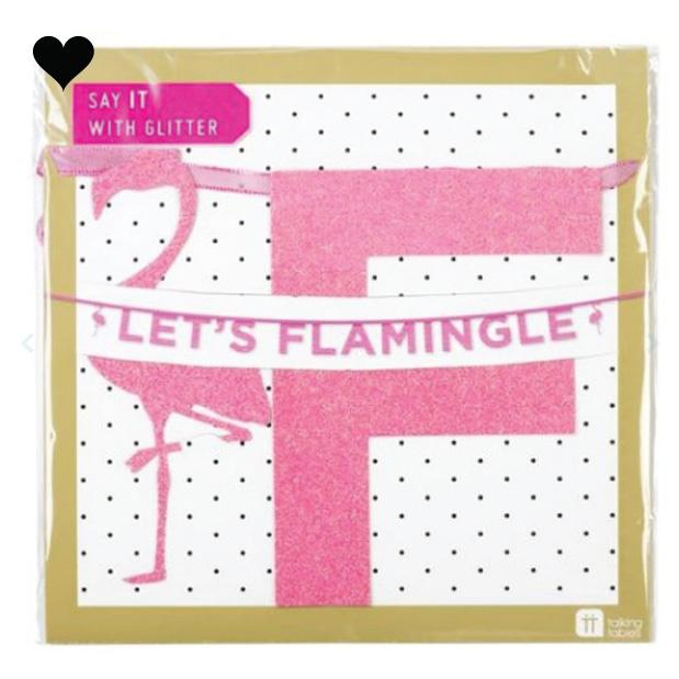 Let's Flamingle roze glitter slinger (3 m)- Talking Tables-3