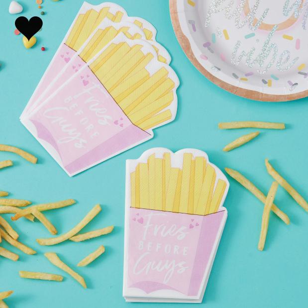 Servetten fries before guys (16 st) Ginger Ray-1