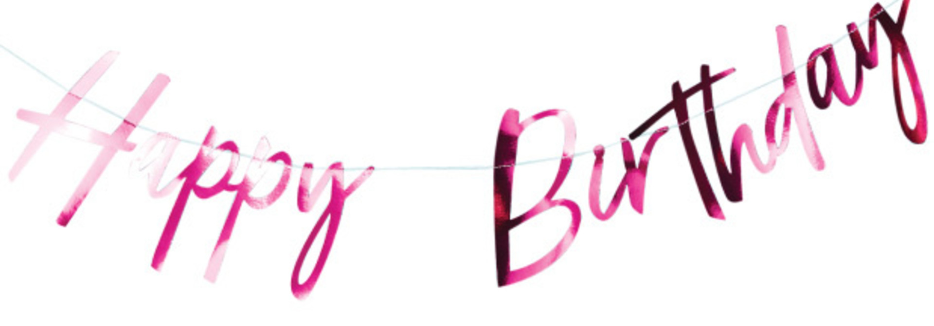 Happy Birthday slinger roze - Ginger Ray