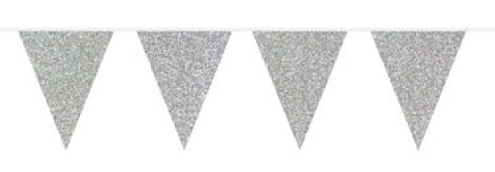 Glitter slinger zilver 6m