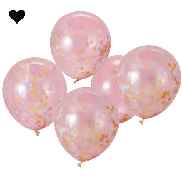 Confetti ballonnen sterren (5 st) - Ginger Ray-2