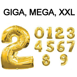 Cijferballon 1 goud (102 cm)-2