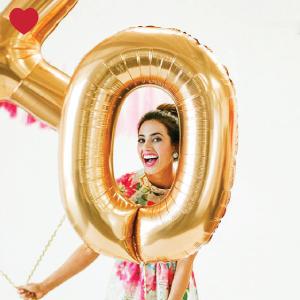 Cijferballon 4 goud (102 cm)-3