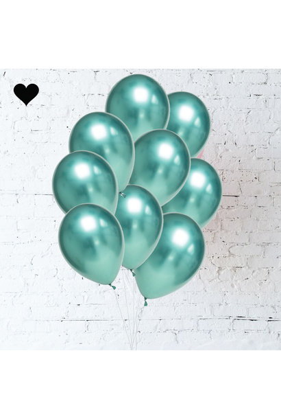 Green Chrome Balloon Bouquet (10 st)