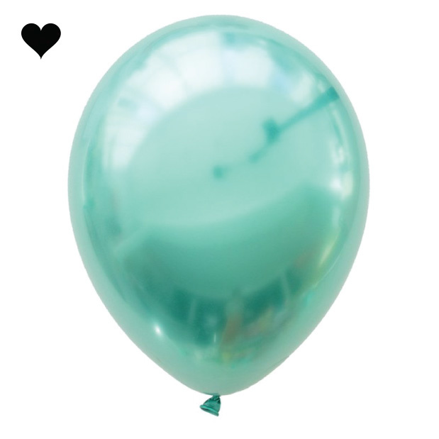 Green Chrome Balloon Bouquet (10 st)-2