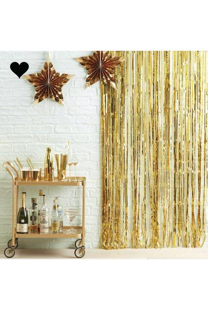 Feestgordijn goud Ginger Ray