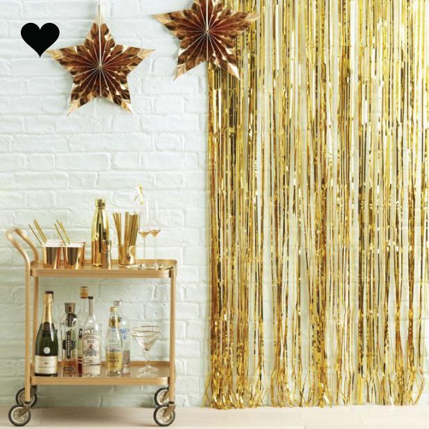 Feestgordijn goud-1