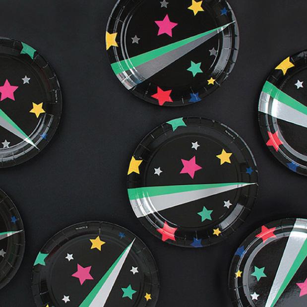 Disco bordjes (8 st) - My Little Day-2