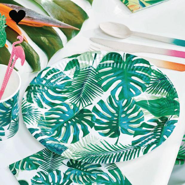 Bordjes tropical fiesta (8 st) - Talking Tables-2