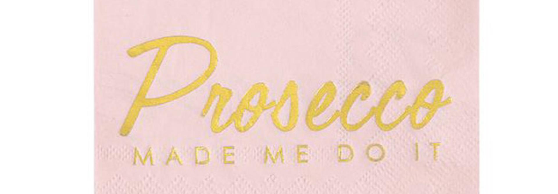 Servetten Prosecco Made Me Do It (16 st) - Talking Tables