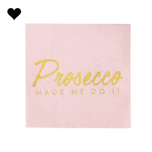Servetten Prosecco Made Me Do It (16 st) - Talking Tables-1