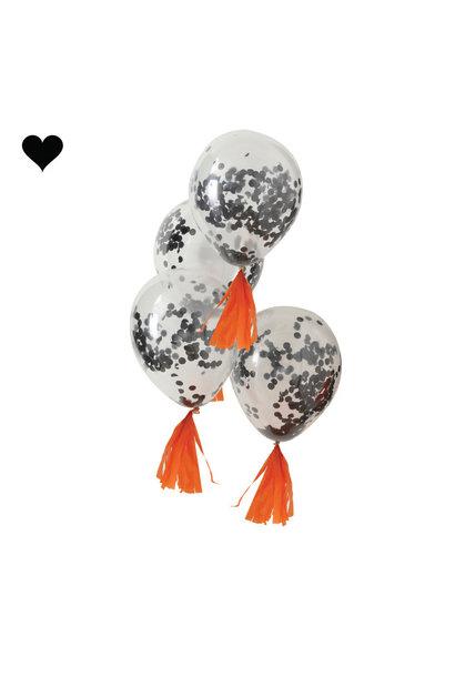 Confetti ballonnen zwart Pumpkin Party (5 st) -  Ginger Ray