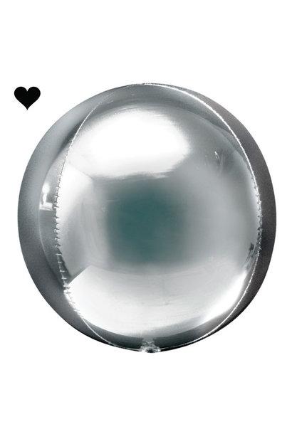Orbz folieballon zilver (40 cm)
