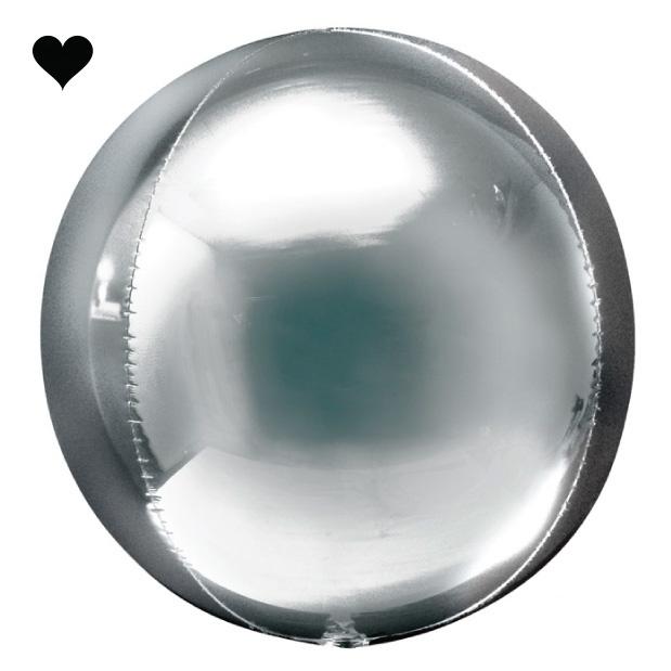 Orbz folieballon zilver (40 cm)-1