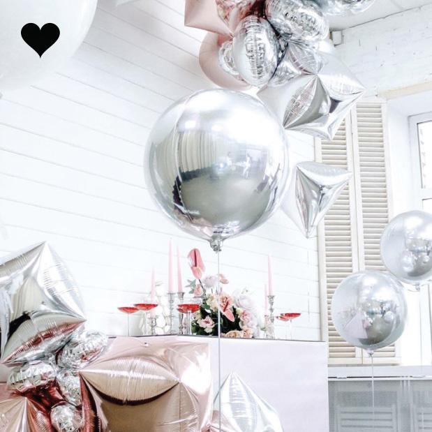 Orbz folieballon zilver (40 cm)-2