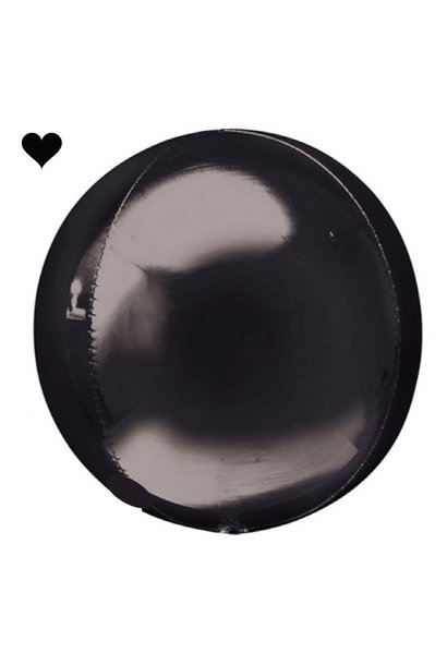 Orbz folieballon zwart (40 cm)