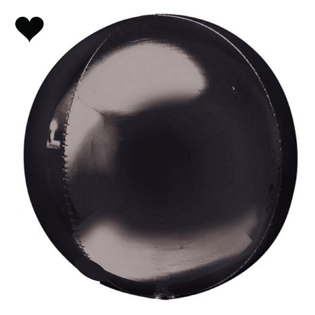 Orbz folieballon zwart (40 cm)-1