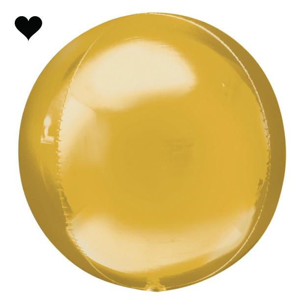 Orbz folieballon goud (40 cm)-1