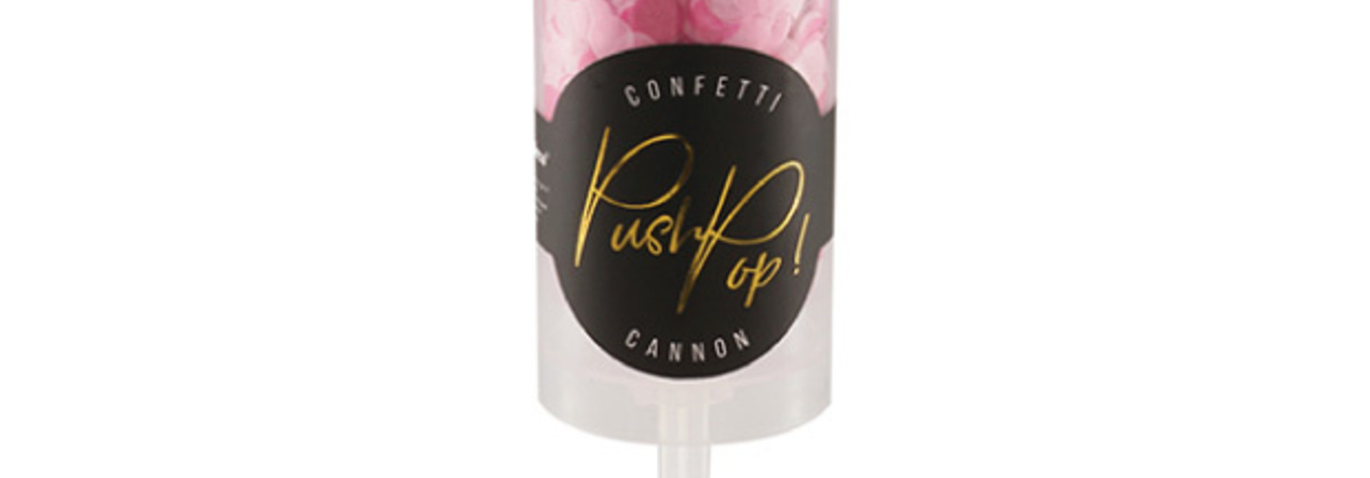 Confetti push pop roze
