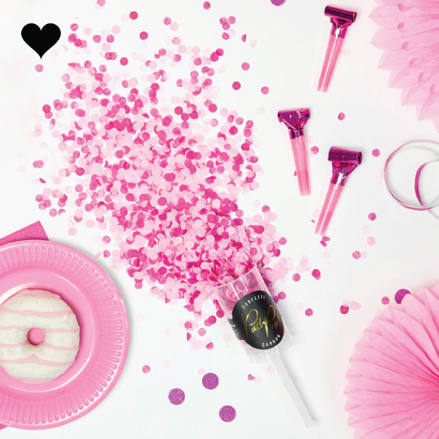 Confetti push pop roze-2