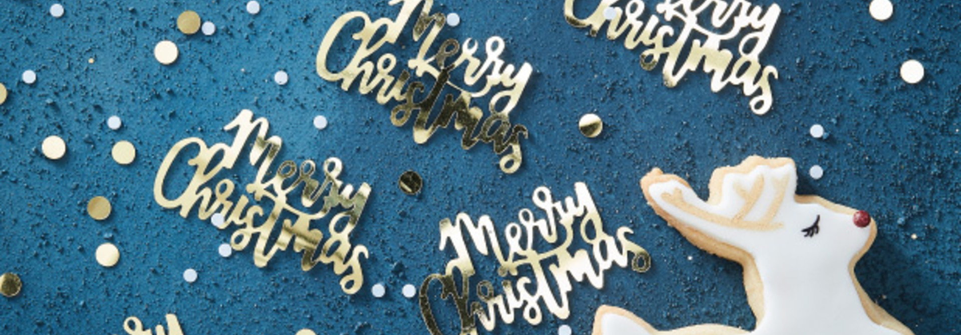 Confetti Merry Christmas Gold Christmas