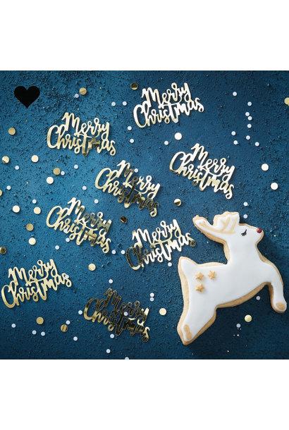 Confetti Merry Christmas - Gold Christmas