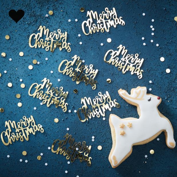 Confetti Merry Christmas Gold Christmas-1