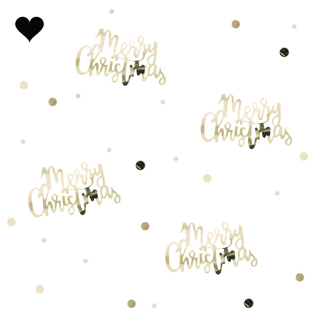 Confetti Merry Christmas Gold Christmas-2