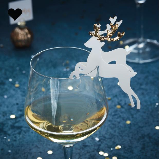 Glas markers rendieren goud (10 st) - Gold Christmas-1
