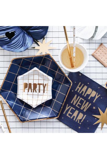 Happy New Year servetten (20 st) - Grid