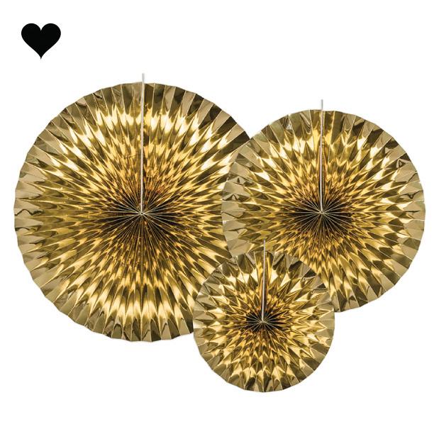 Waaiers goudfolie (3st)-1