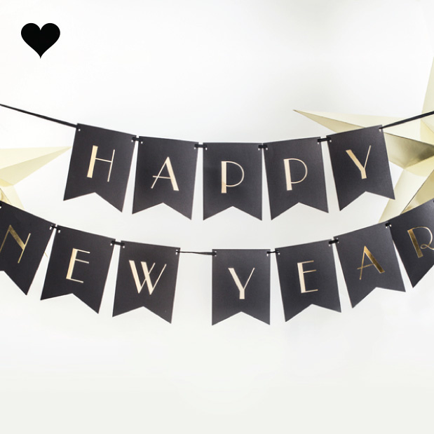 Happy New Year slinger Black & Gold-2