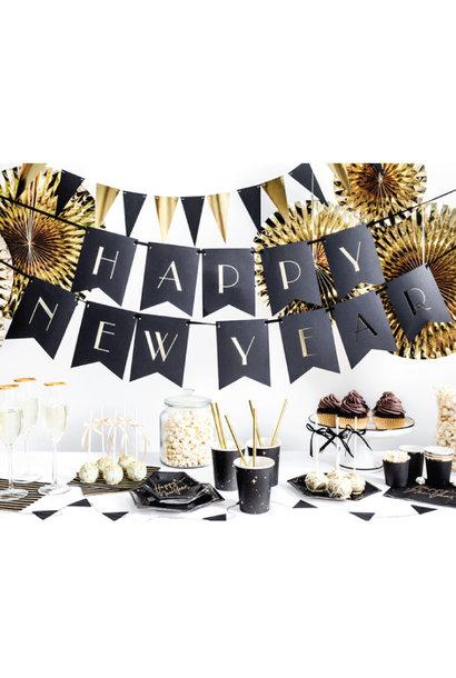 Happy New Year slinger Black & Gold