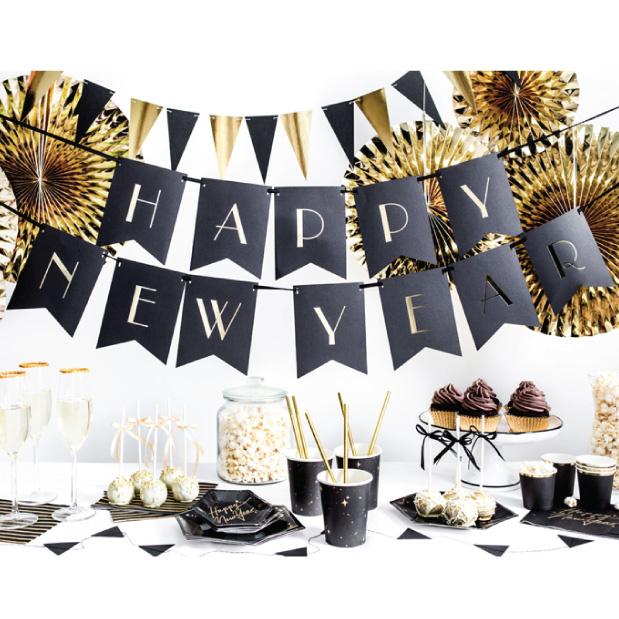 Happy New Year slinger Black & Gold-1