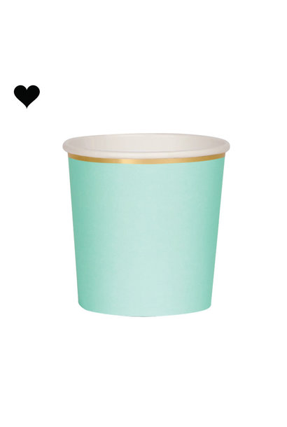 Tumbler mint beautiful basics (8 st) - Meri Meri
