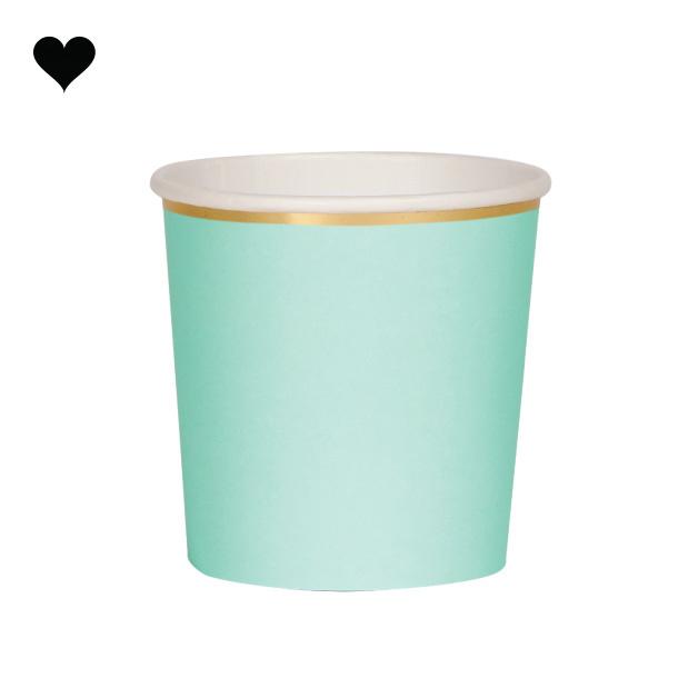 Tumbler mint beautiful basics (8 st) - Meri Meri-1