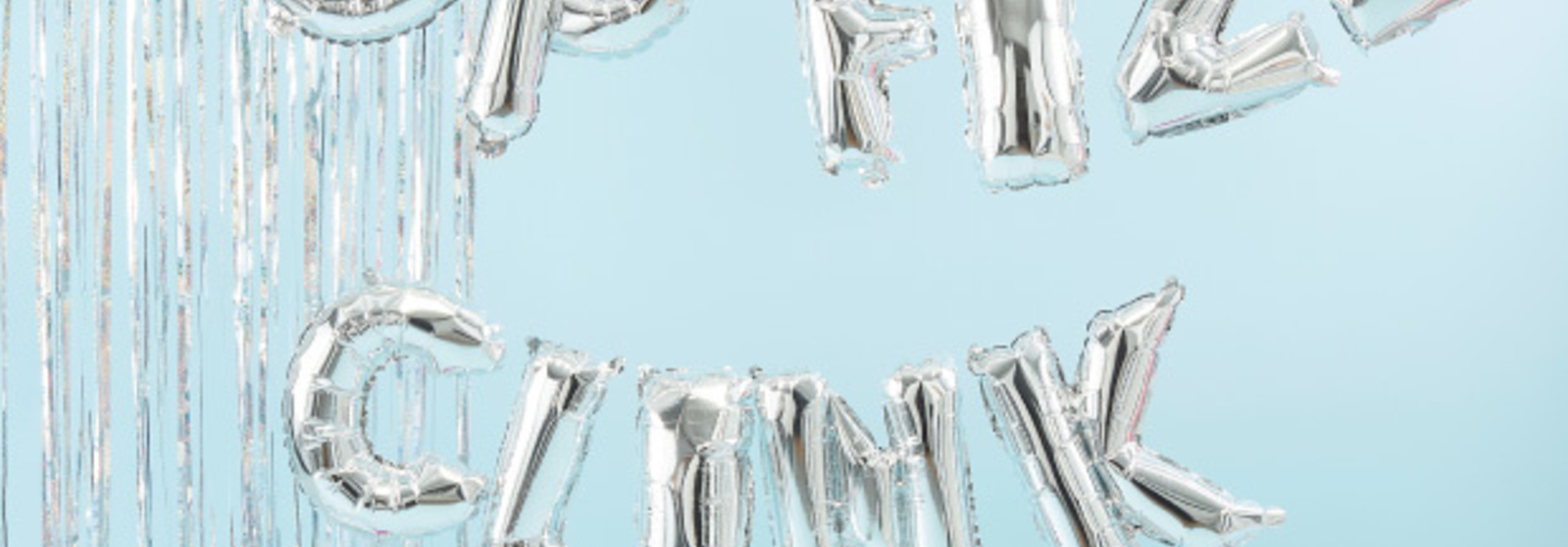 Folieballon slinger pop fizz clink - Jolly Vibes