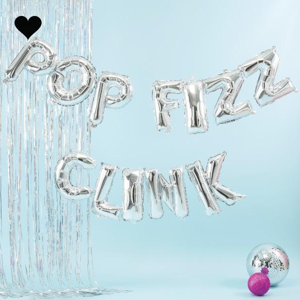 Folieballon slinger pop fizz clink - Jolly Vibes-1