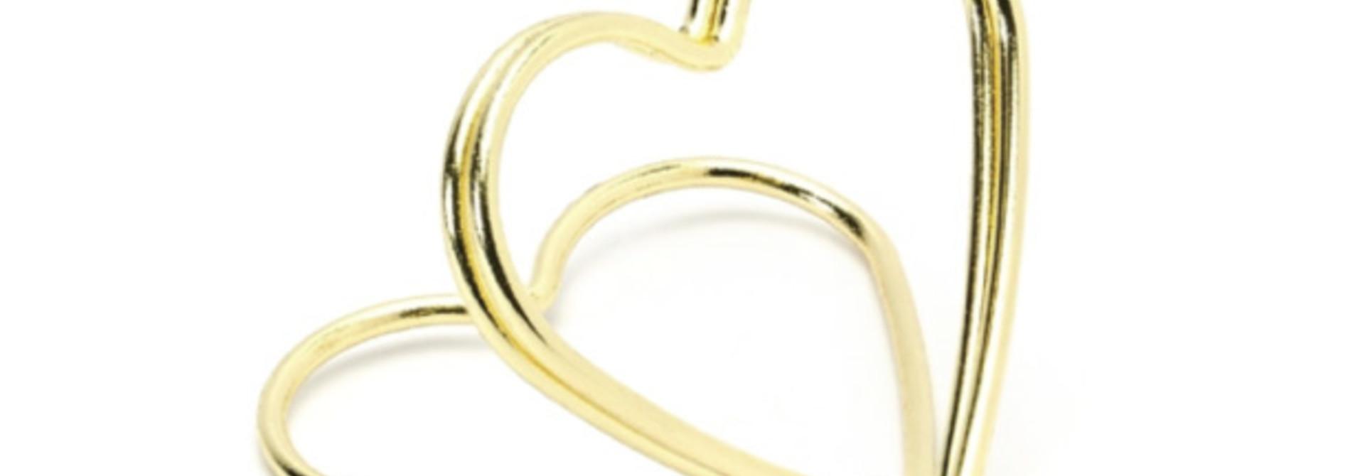 Plaatskaarthouders gouden harten (10 st)