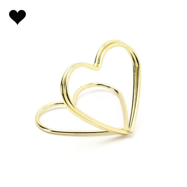 Plaatskaarthouders gouden harten (10 st)-1
