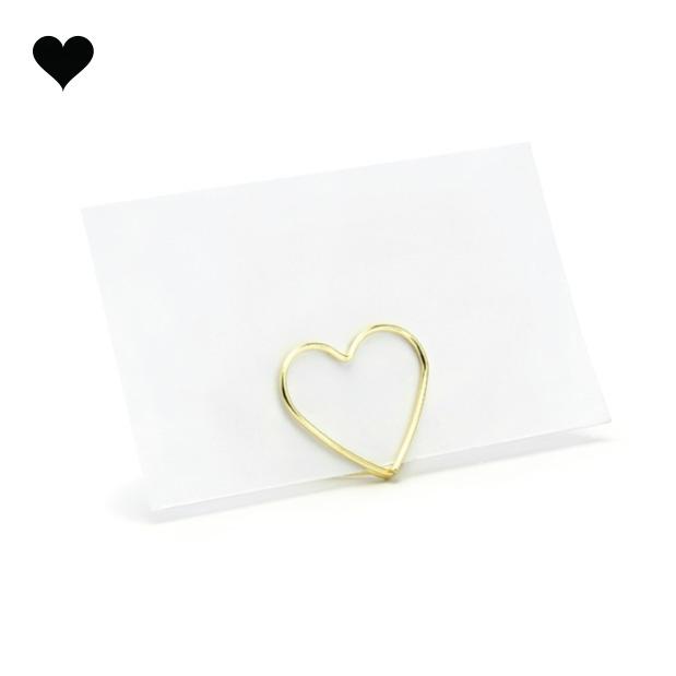 Plaatskaarthouders gouden harten (10 st)-2