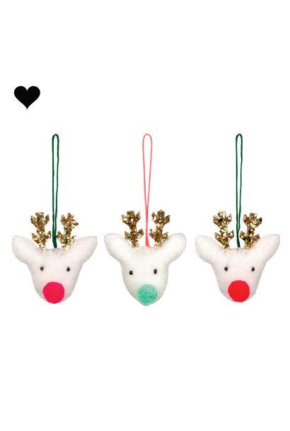 Kersthanger rendier set (3 st) - Meri Meri