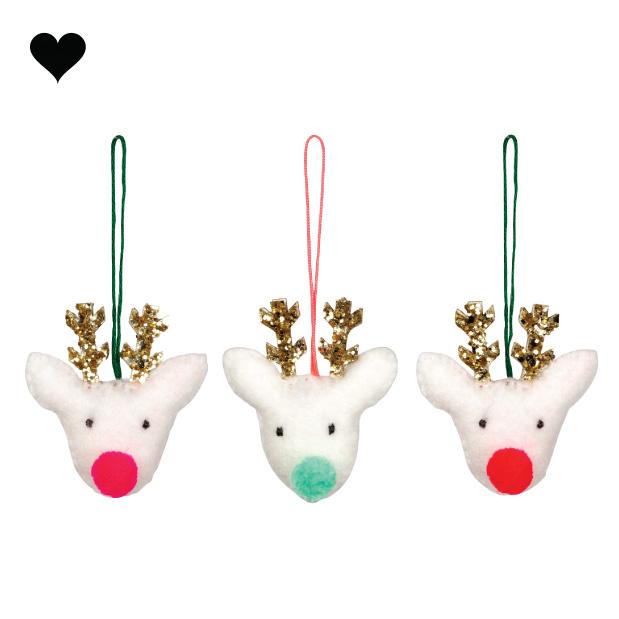 Kersthanger rendier set (3 st) - Meri Meri-1